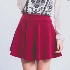 Club Monaco dark pink s6 mini skirt
